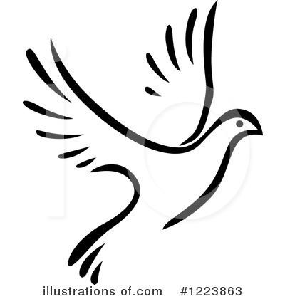 400x420 Dove Clipart