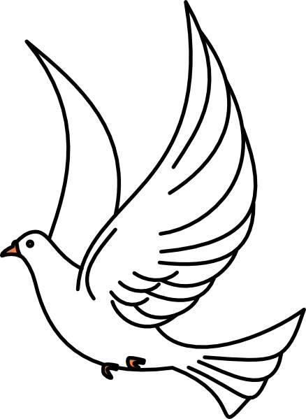 438x599 Dove Clipart Black And White 101 Clip Art