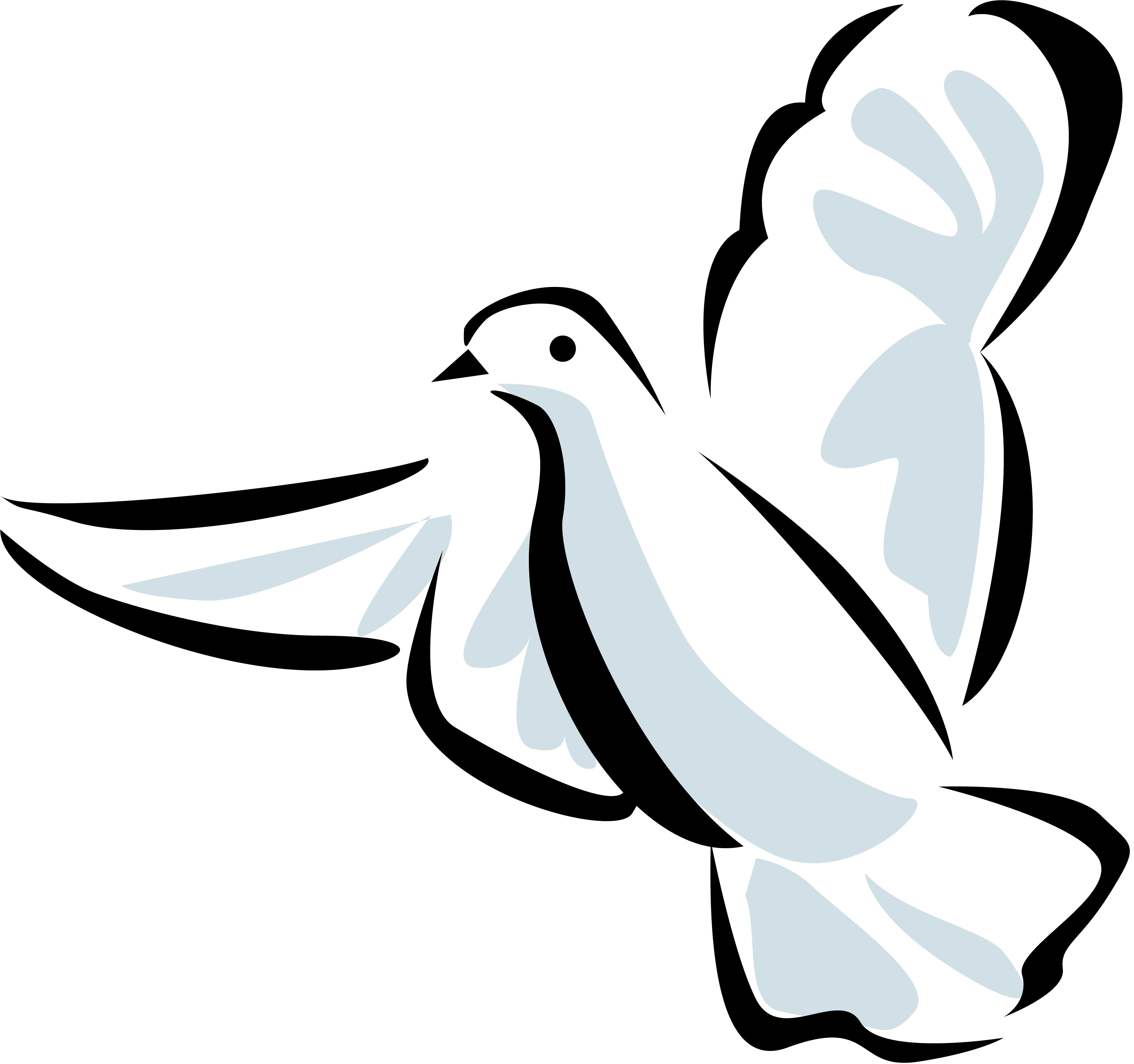 3300x3096 Dove Line Drawing Clipart