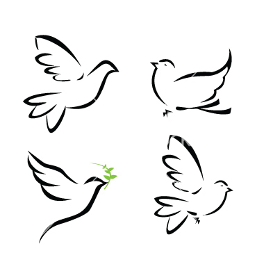 380x400 Graphics For Doves Royalty Free Vector Graphics