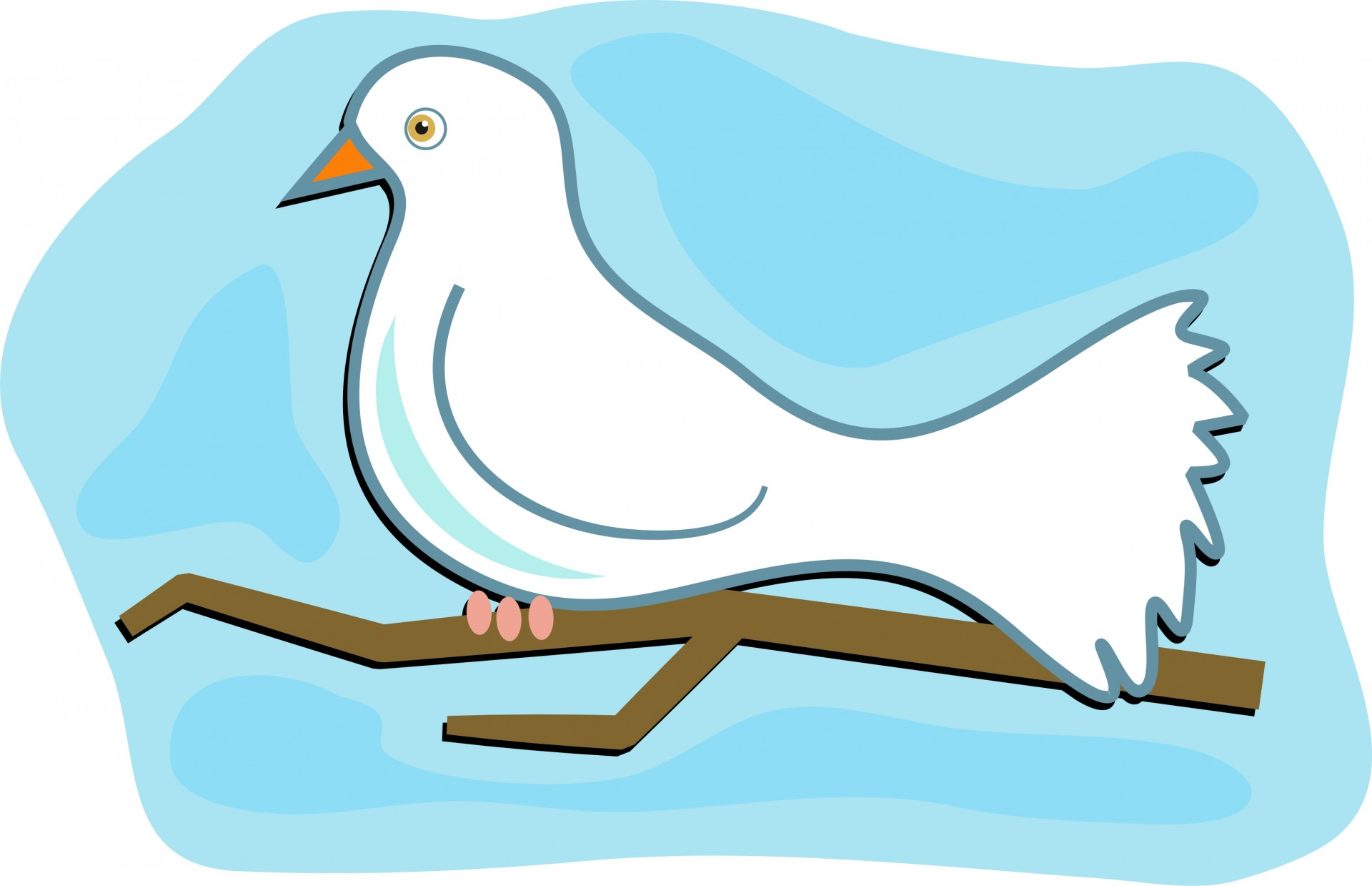 1920x1239 White Dove Clip Art Free Stock Photo