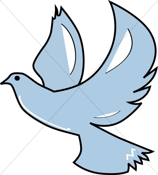 552x612 Descending Dove Clipart
