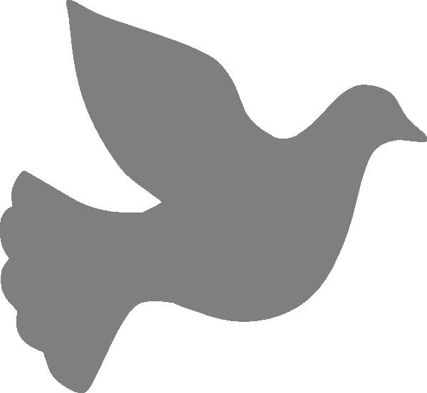 600x553 Grey Love Dove Clip Art