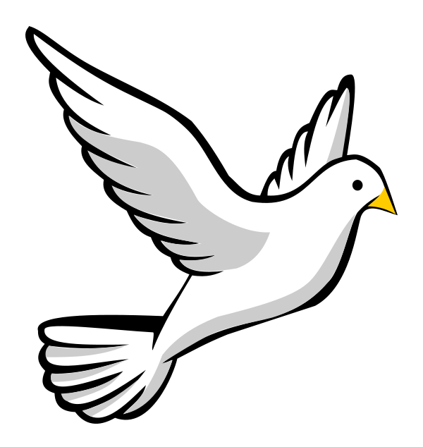 600x634 This Free Flying Dove Clip Art Clipart Panda