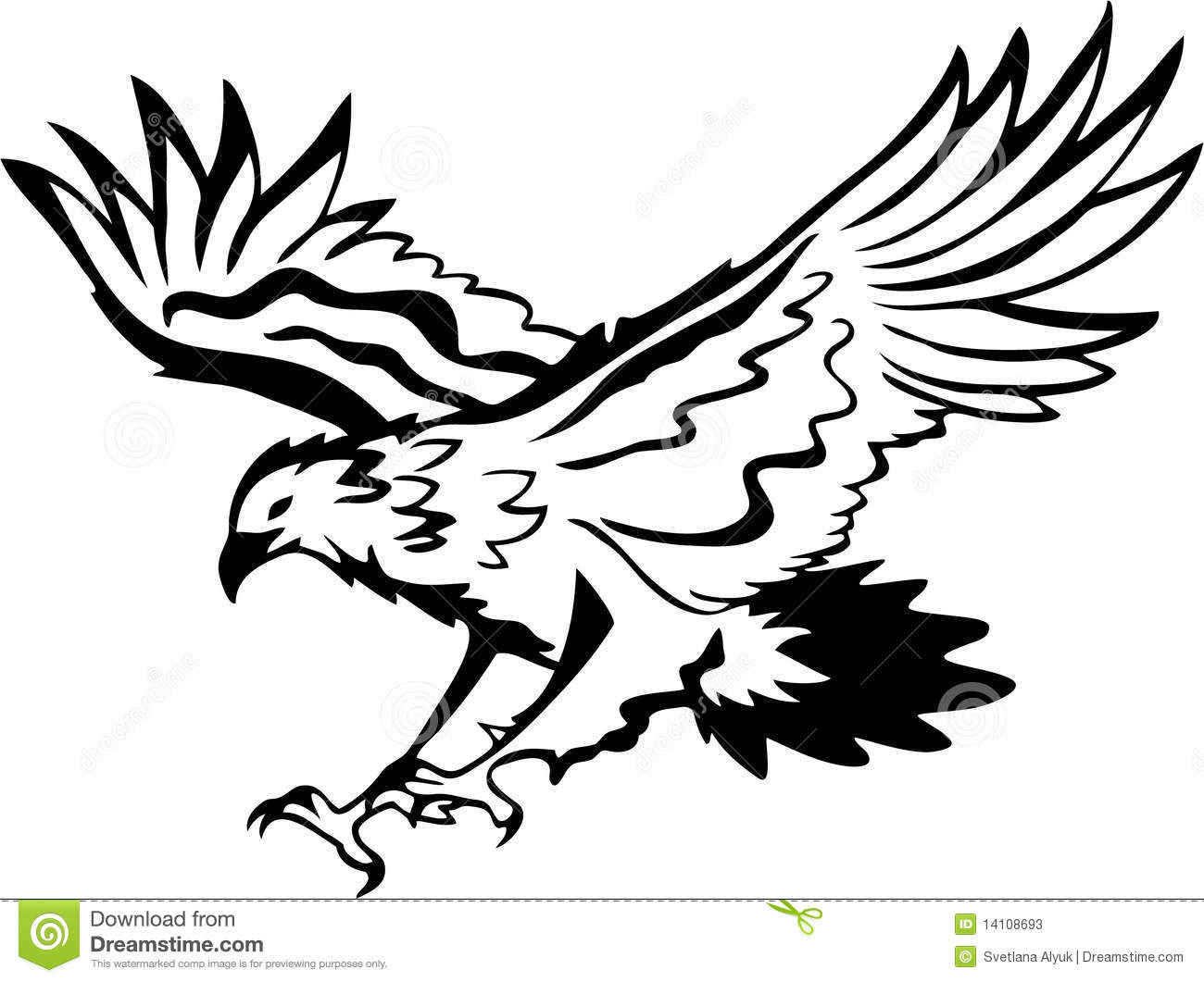 1300x1061 Eagle Clipart Black And White