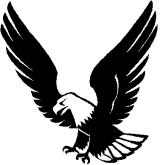 160x165 Free Eagle Clipart Black And White