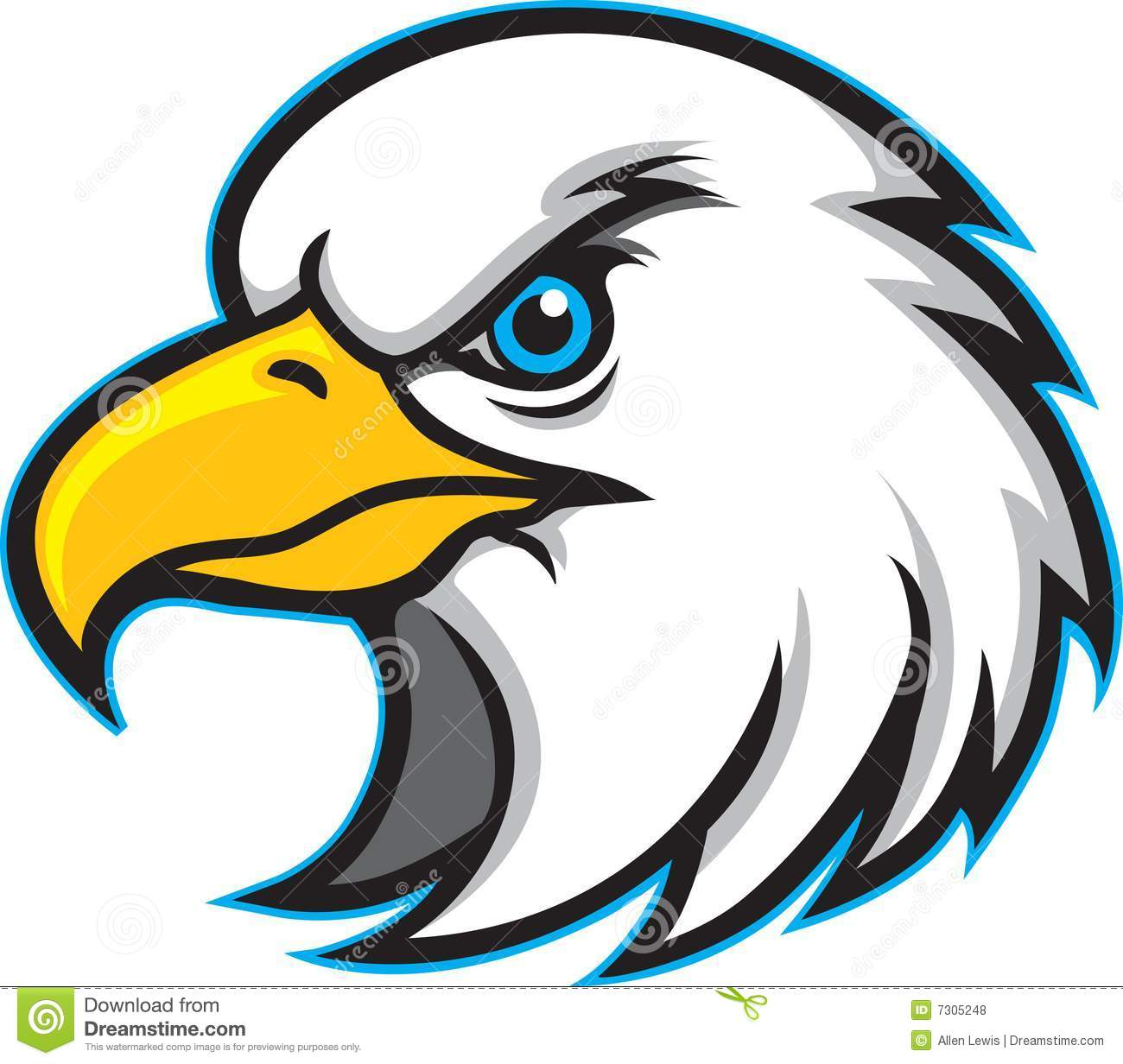 1300x1232 Free Eagle Mascot Clipart