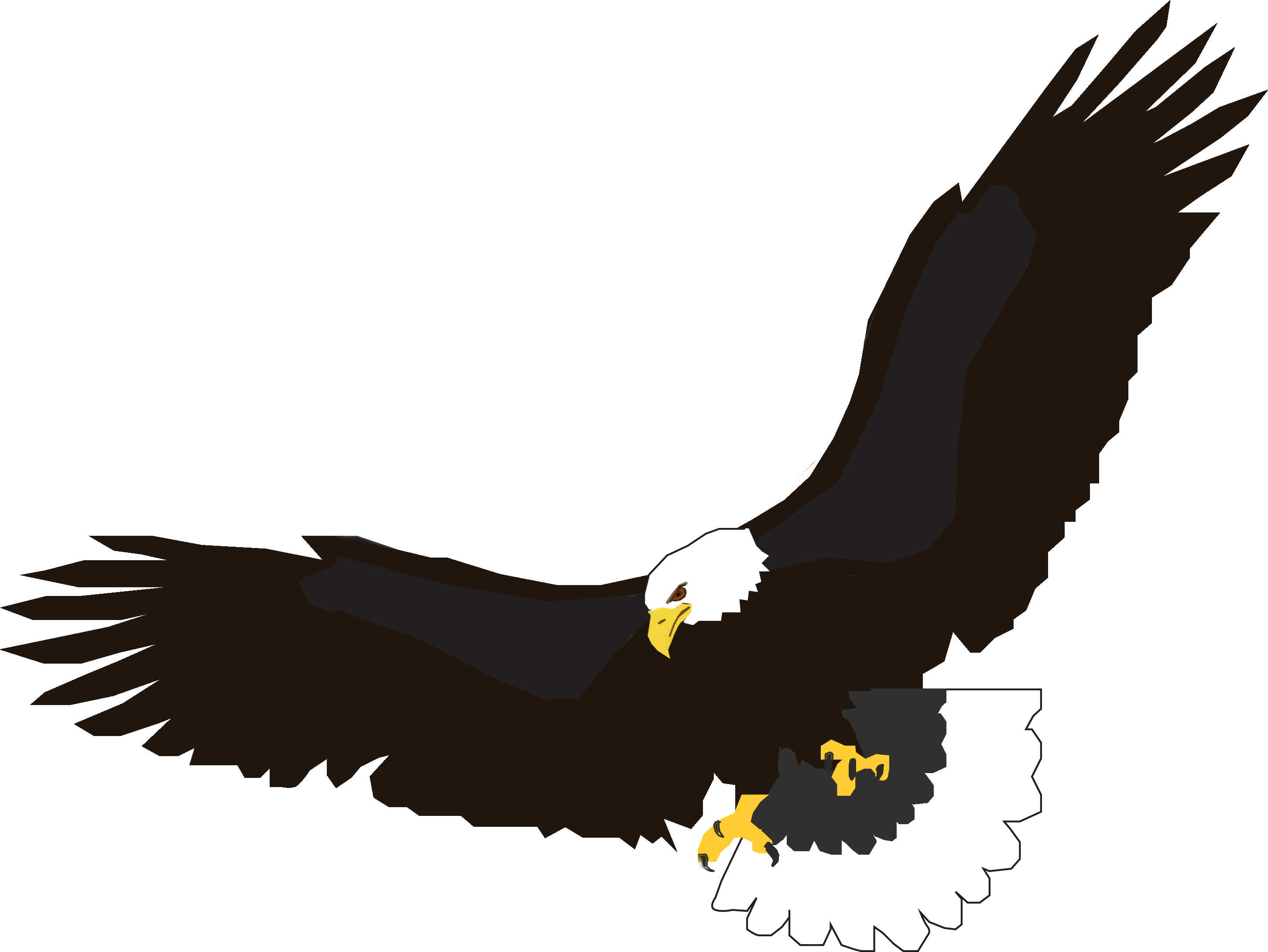 2906x2182 Golden Eagle Clipart Outline