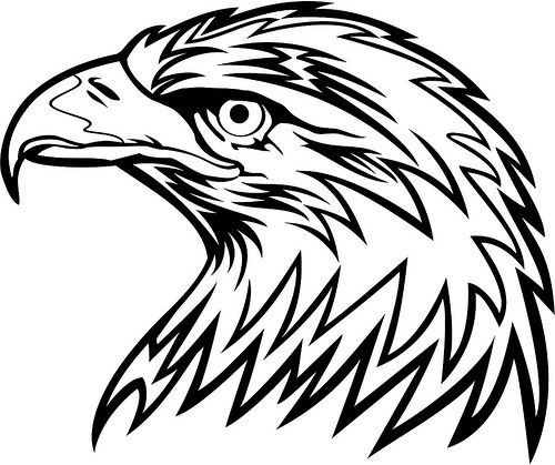 500x419 Stylish Design Eagle Clipart Black And White Free Image 7146 Clip