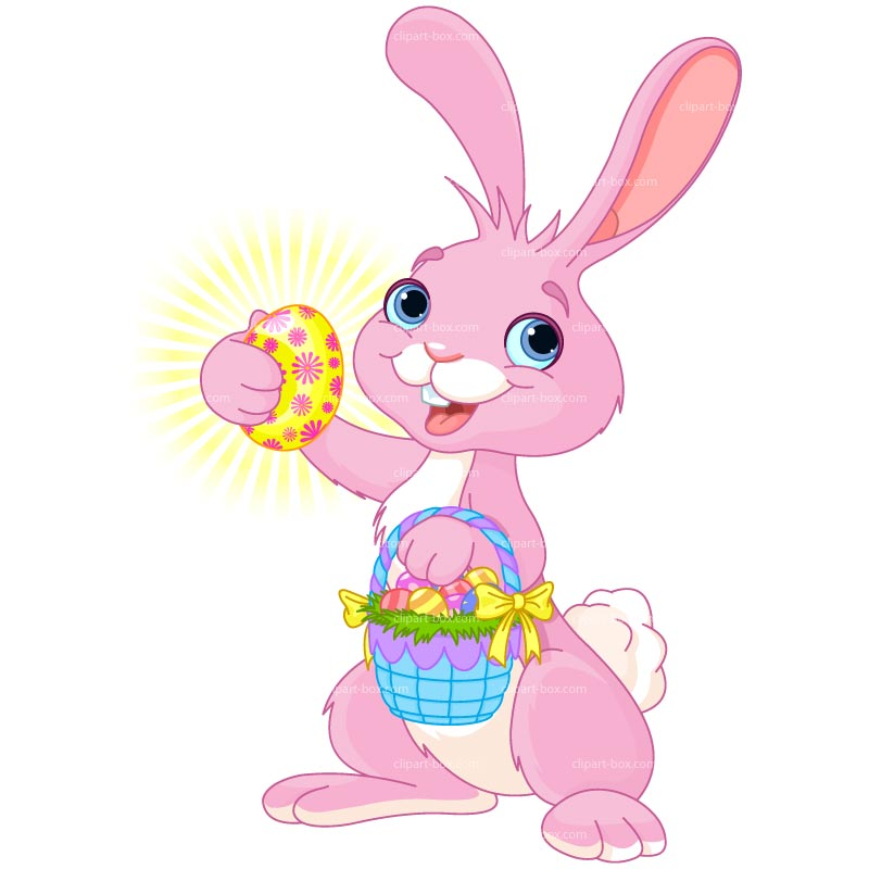 800x800 Easter Bunny Clipart Free Easter Bunny With Eggs Clip Art Image 2
