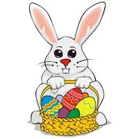 200x200 Free Easter Bunny Eggs Stock Photo