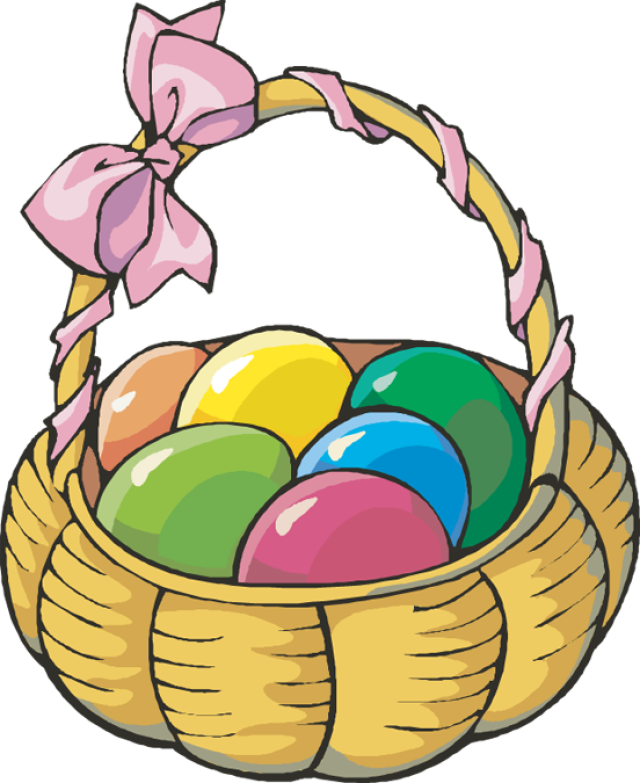 640x783 Basket Easter Bunny Clipart, Explore Pictures