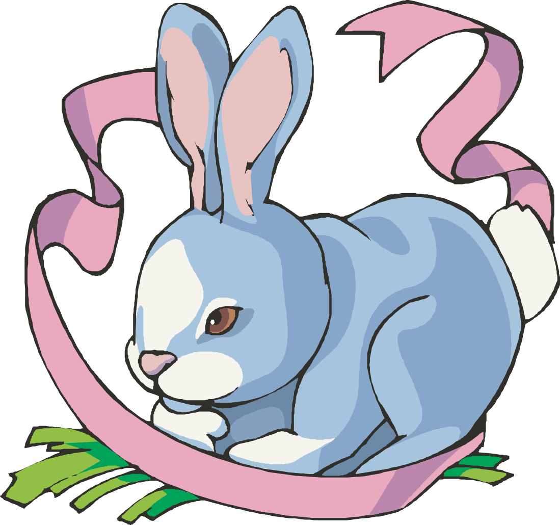 1099x1030 Blue Clipart Easter Bunny