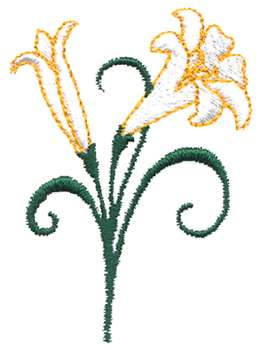266x350 Clipart Of Easter Lily