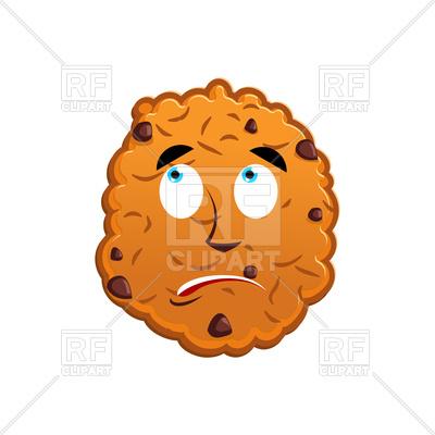 400x400 Cookies Surprised Emoji Royalty Free Vector Clip Art Image