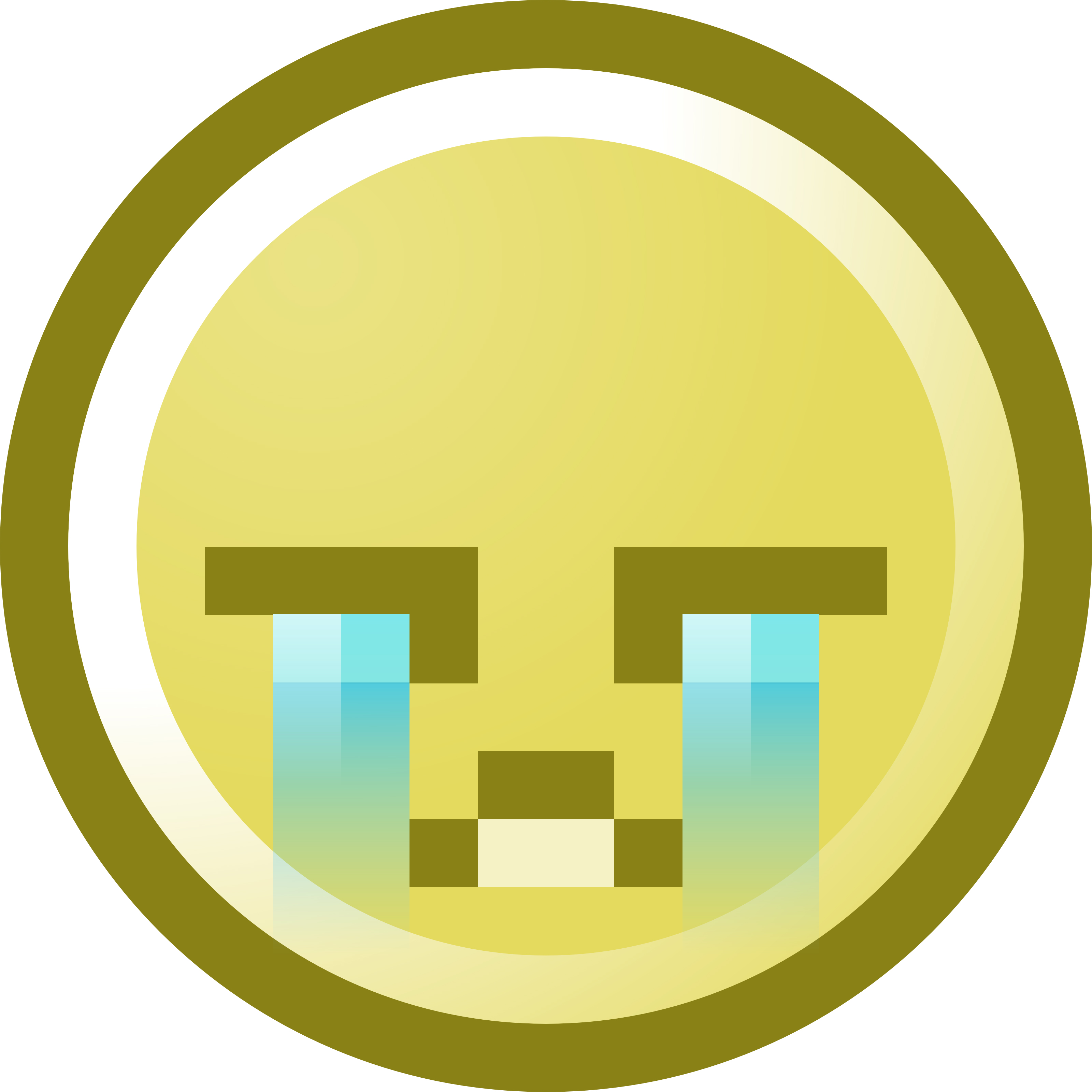 3200x3200 Crying Smiley Face Clip Art Illustration