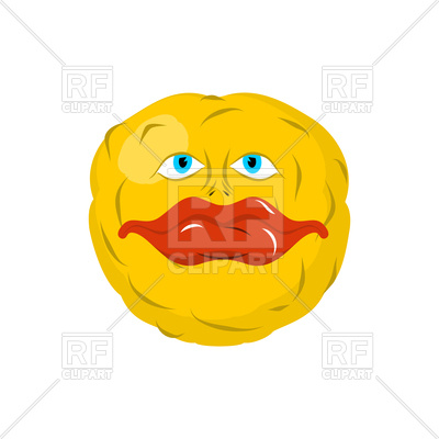 400x400 Smiling Emoji Royalty Free Vector Clip Art Image