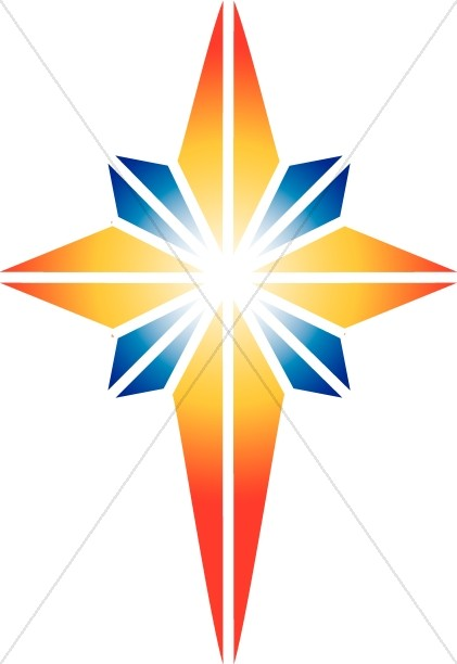 421x612 Red And Blue Star Of Bethlehem Epiphany Clipart