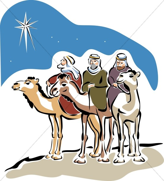 553x612 Three Camels With Magi Epiphany Clipart
