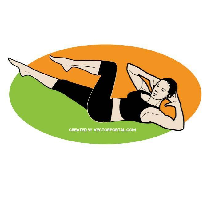 660x660 Aerobic Exercise Vector Clip Art. Girls And Women Free Vectors