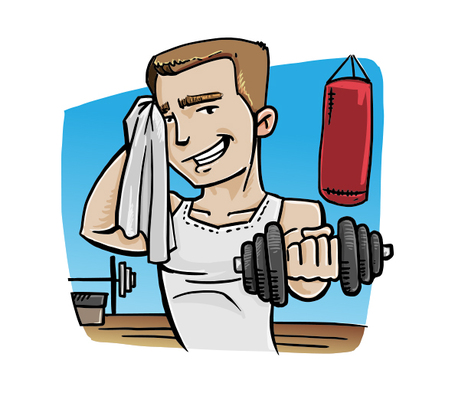 455x393 Exercise Man Clipart