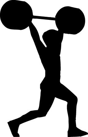 285x441 Gym Fitness Silhouette Clipart