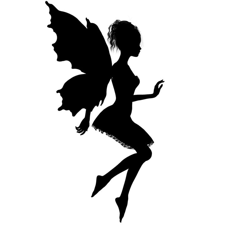 It's just a graphic of Free Printable Fairy Silhouette regarding cute