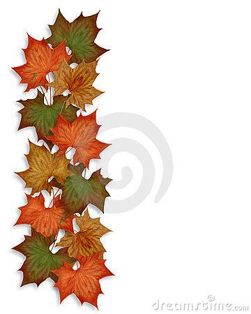 360x450 Fall Flower Border Clipart