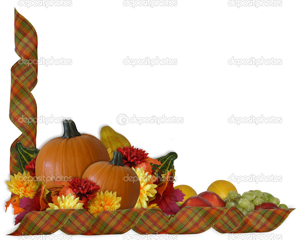 1024x819 Fall Flower Border Clipart
