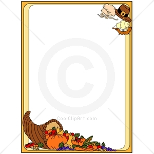 300x300 Free Clip Art Thanksgiving Borders