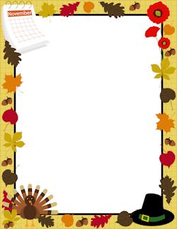 250x324 November Border Free Clipart