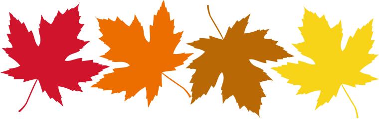 760x240 Fall Leaves Clip Art Free