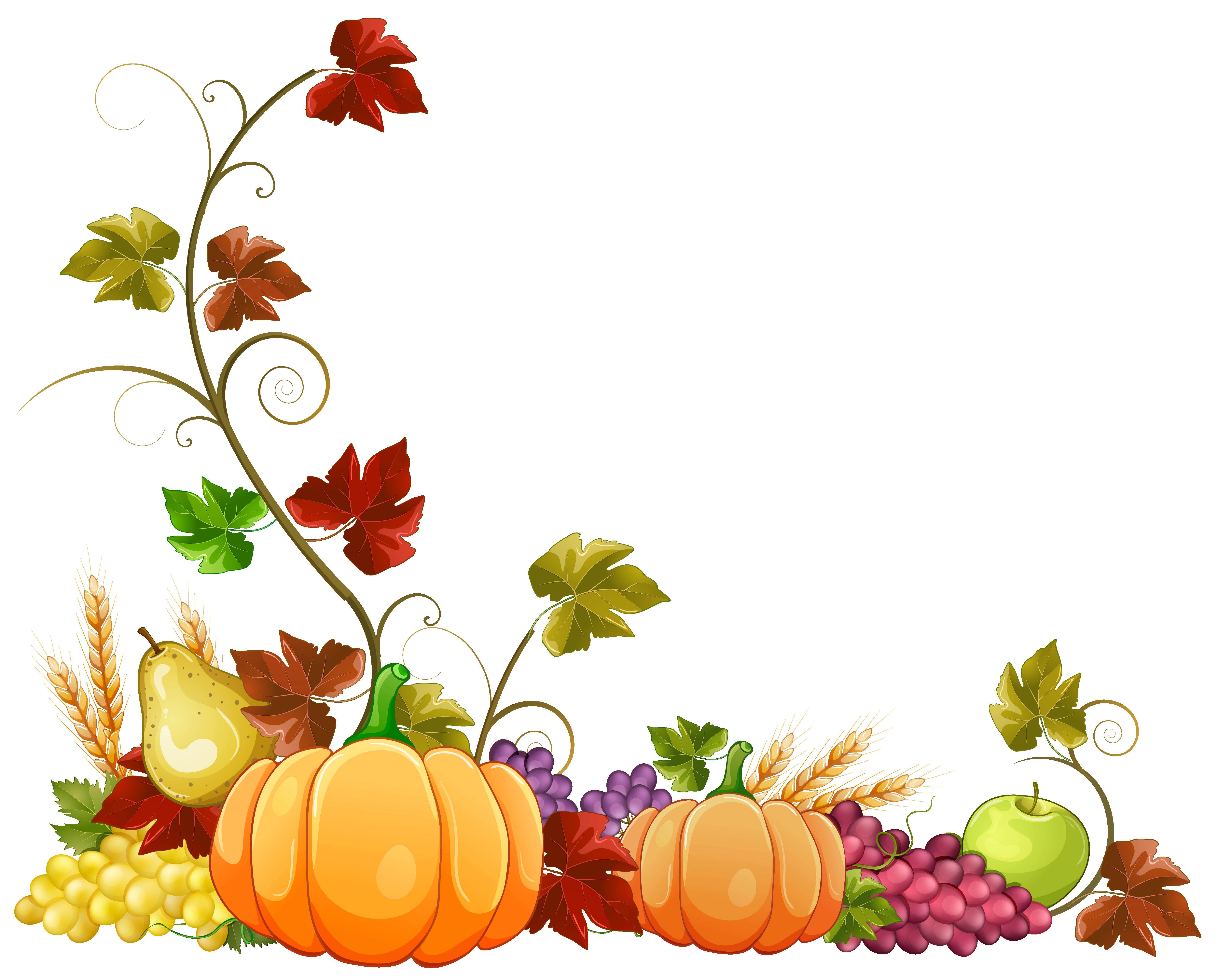 6178x4971 Free Fall Autumn Clip Art