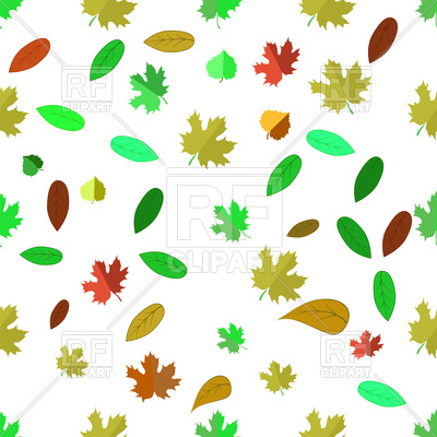 400x400 Autumn Leaves Background Royalty Free Vector Clip Art Image