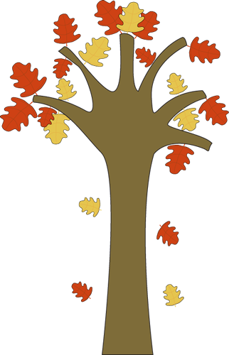322x500 Tree With Falling Leaves Clipart