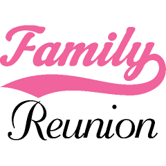 240x240 Family Reunion Word Clipart