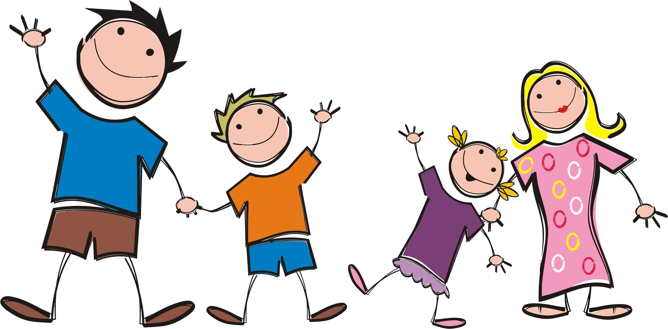 2294x1130 Free Family Clipart