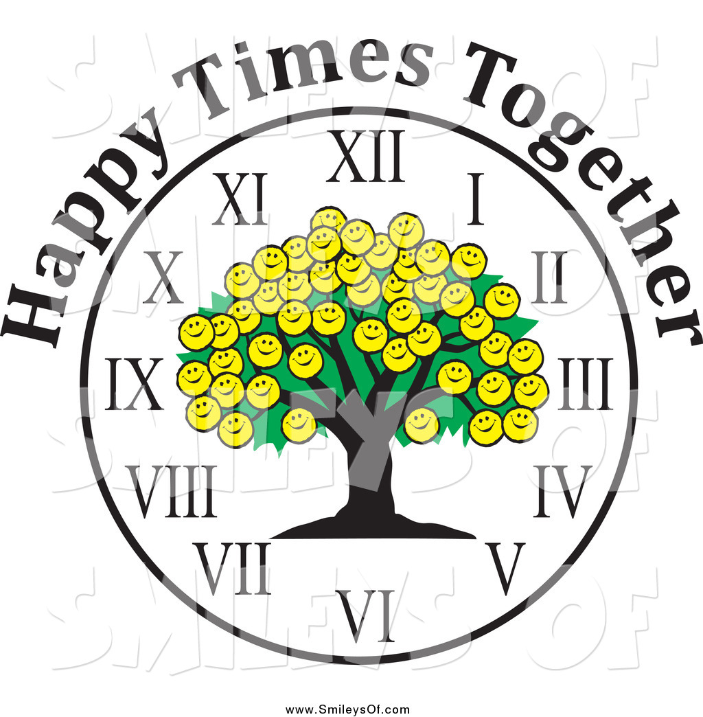 1024x1044 Vector Clipart Of A Smiley Face Family Reunion Tree Clock