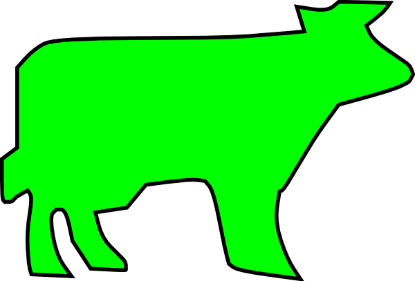 600x407 Farm Animal Outline Clip Art Free Vector 4vector