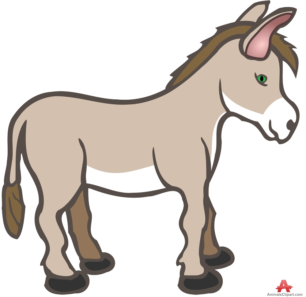 999x971 Farm Animals Clipart Donkey
