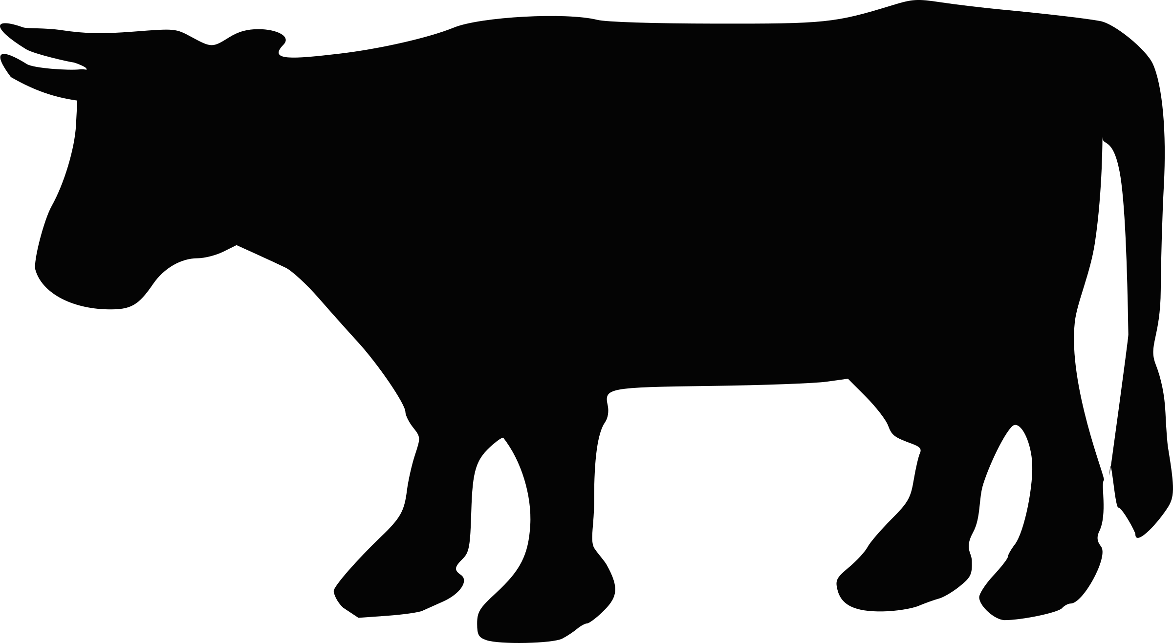2400x1316 Farm Animals Clipart Silhouette
