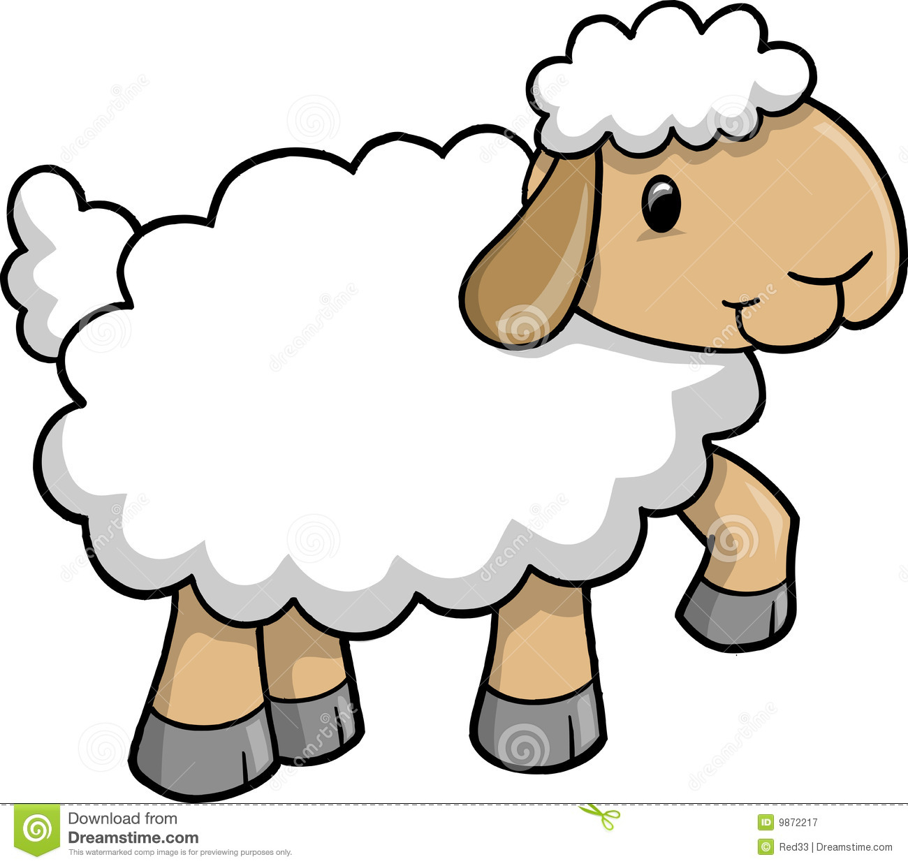 1300x1240 Baby Animal Clipart Cute Baby Sheep