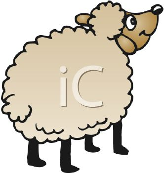 332x350 Clip Art Illustration Of A Sheep
