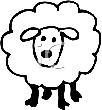 326x350 Royalty Free Sheep Clip Art, Farm Animal Clipart
