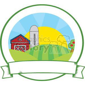 300x300 Royalty Free Family Farm Sign 380870 Vector Clip Art Image
