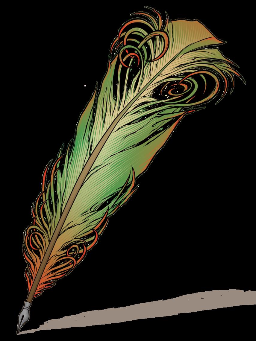 855x1140 Feather Pen Clip Art Clipartfest