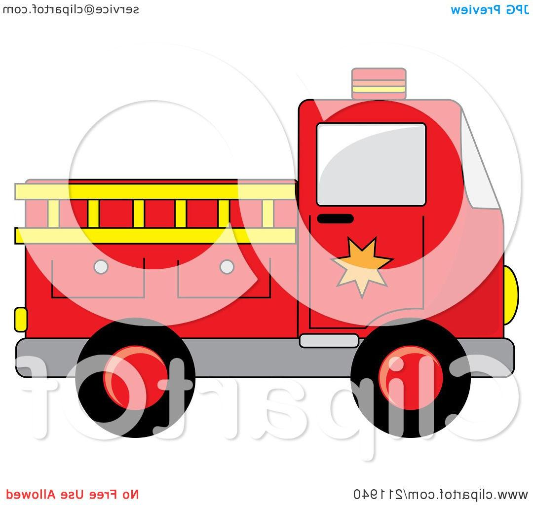 1080x1024 Best Free Royalty Rf Clipart Illustration Of Red Fire Truck