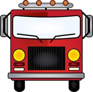 300x297 Firetruck Clipart Image