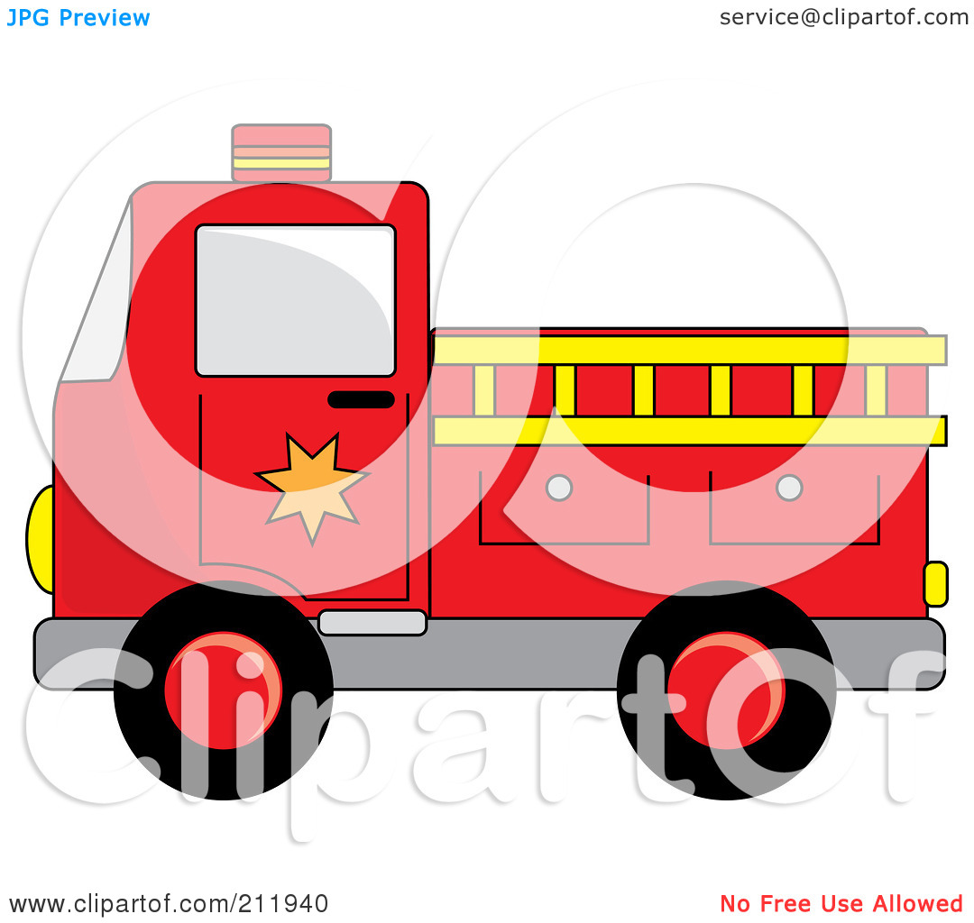 1080x1024 Yellow Fire Trucks Clip Art
