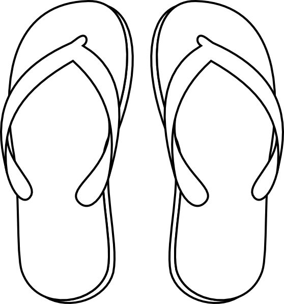 47eda2648fa3 558x597 Flip Flop Clipart Black And White Free